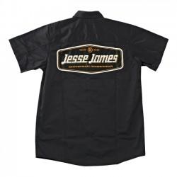 CAMISA JESSE JAMES LOGO WORK GREY