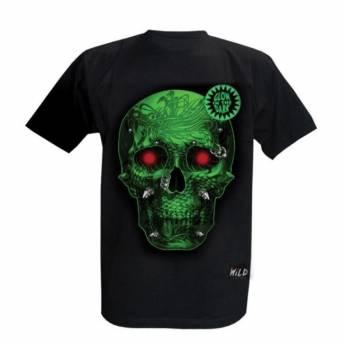 camiseta-wild-green-skull