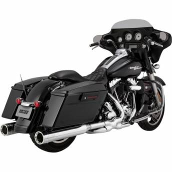 """TAILS OF ESCAPES VANCE HINES OVERSIZED 4.5 """"HARLEY DAVIDSON TOURING 96-15"""