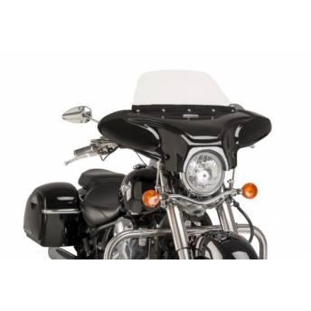 BATWING WINDSHIELD BRIGHT BLACK HONDA SHADOW VT 750 C (RC 50/10) 10-16