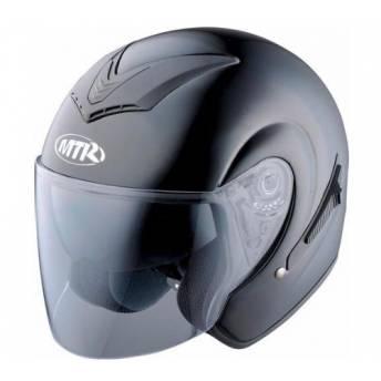 MTR DEMI-JET 3 JET HELMET METALLIC BLACK