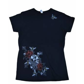 CAMISETA LADY SKULL & ROSES (OUTLET)