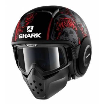 casco-jet-shark-raw-negro-brillo