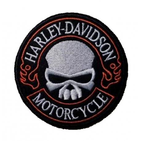 patch harley davidson skull motorcycle 9cm spaciobiker rh spaciobiker com harley davidson skull logo stencil harley davidson skull logo meaning