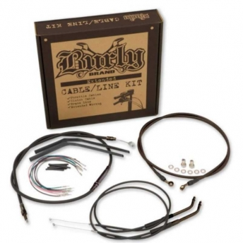 "BURLY BRAND STAINLESS 18"" CABLE KIT FOR HARLEY DAVIDSON SOFTAIL FLST 11-13"