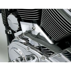 CHROME TRIM CYLINDER BASE COVER HD Sportster
