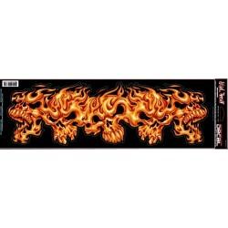 PEGATINA SKULLS ON FIRE