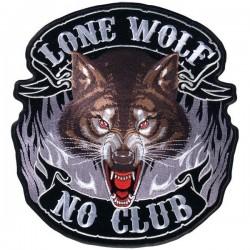 PARCHE LONE WOLF NO CLUB 27,95cm