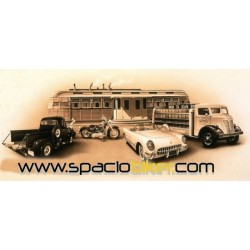 POSTER DINER MOTORCYCLE 90X45