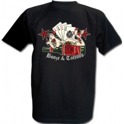 CAMISETA KING KEROSIN BOOZE Y TATTOOS