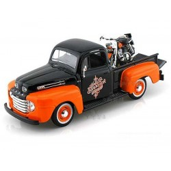MINIATURA FORD PICKUP 1958 DUO HARLEY DAVIDSON FLH DUO GLIDE