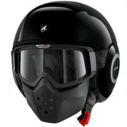 CASCO JET SHARK DRAK NEGRO BRILLO