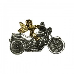 PIN ANGEL ON BIKE
