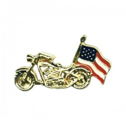 PIN MOTORCYCLE USA FLAG