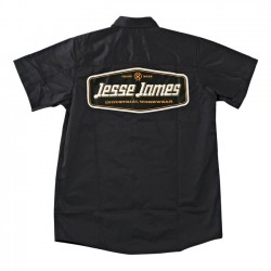 CAMISA JESSE JAMES LOGO WORK GREY
