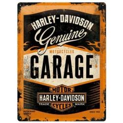 PLACA GARAGE HARLEY DAVIDSON GARAGE FLAME