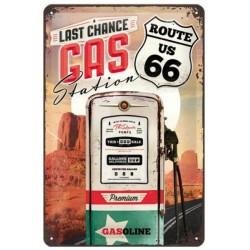 PLACA GARAGE ROUTE 66 GAS