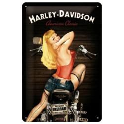PLACA GARAGE HARLEY DAVIDSON BIKER BABE