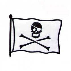 PARCHE BIG FLAG PIRATE WHITE