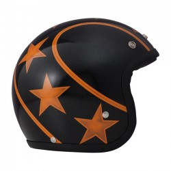 CASCO JET DMD VINTAGE STUNT BLACK/ORANGE