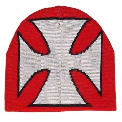 GORRO DE LANA RED/WHITE CROSS