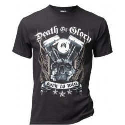 CAMISETA DEATH OR GLORY NEGRA (OUTLET)