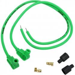 8MM spark plug wires. COLOR GREEN 90