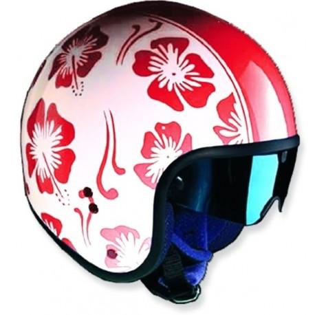 casco-project-cafe-flores-rojas-brillante