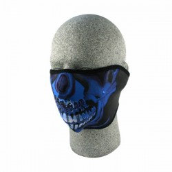 MASCARA NEOPRENO BLUE CHROME SKULL