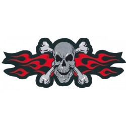 PARCHE SKULL N RED